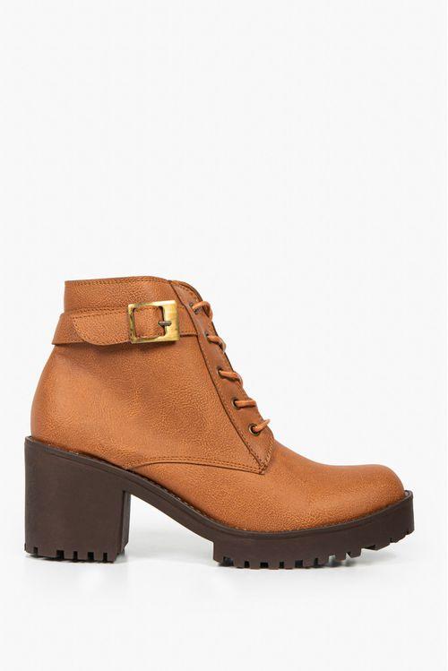 Zapatos tipo botin en sintetico