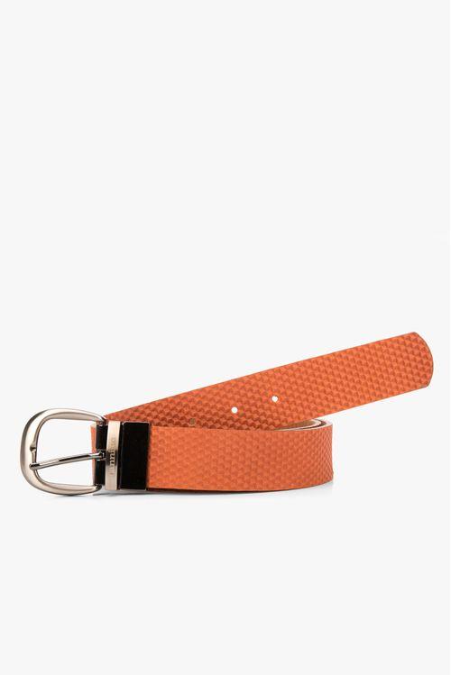 Cinturón doble faz de cuero