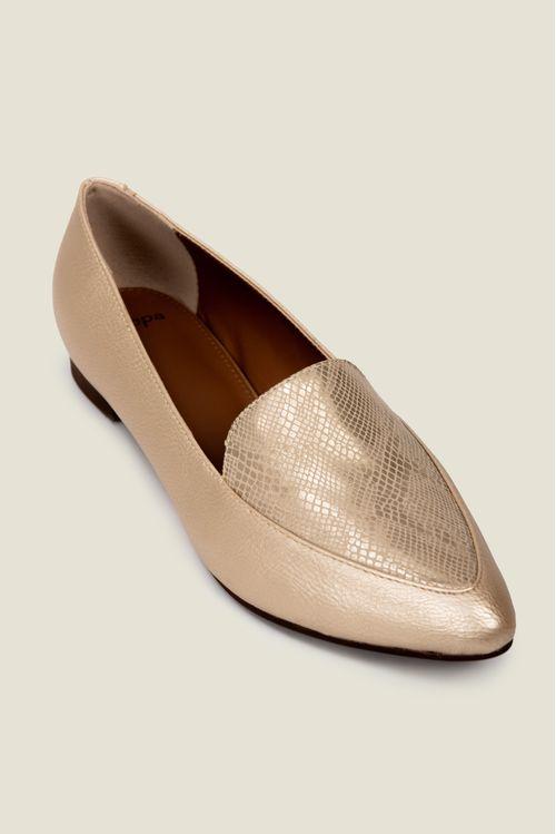 Zapatos tipo mocasin en sintetico