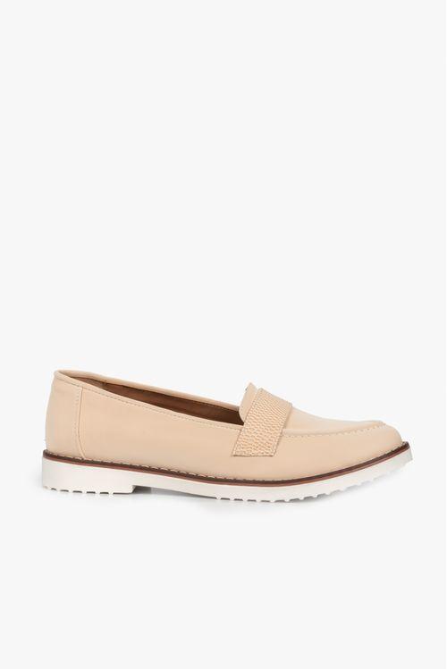 Zapatos tipo mocasin en textil y sintético