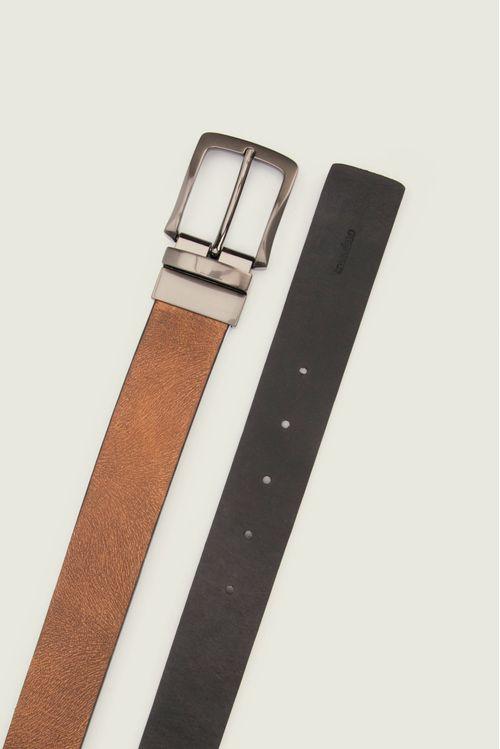 Cinturón doble faz cuero hombre