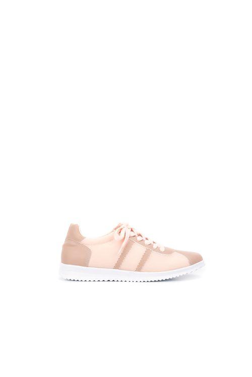 Zapatos tipo atadura en sintetico