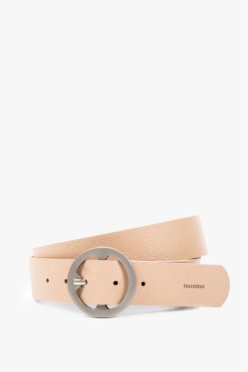 Cinturón unifaz casual cuero mujer