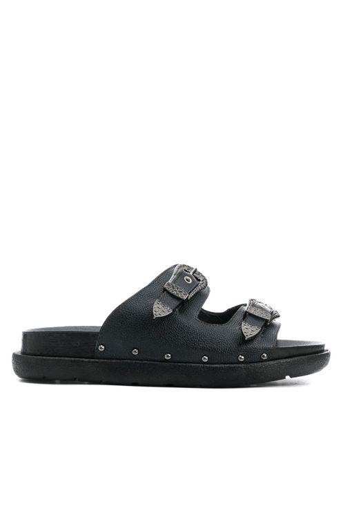 Zapatos tipo sandalia en cuero para mujer