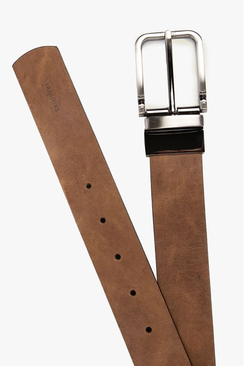 Cinturón doble faz cuero
