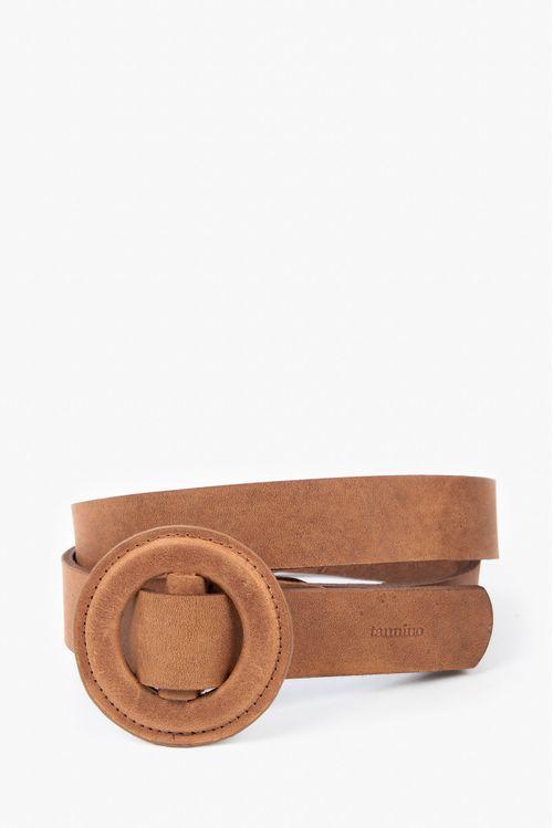 Cinturón unifaz cuero