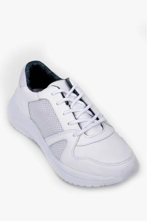 Zapatos para mujer tipo tenis con cordones en textil dana.