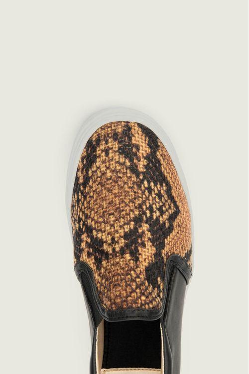 Zapatos tipo mocasin en sintetico por textil