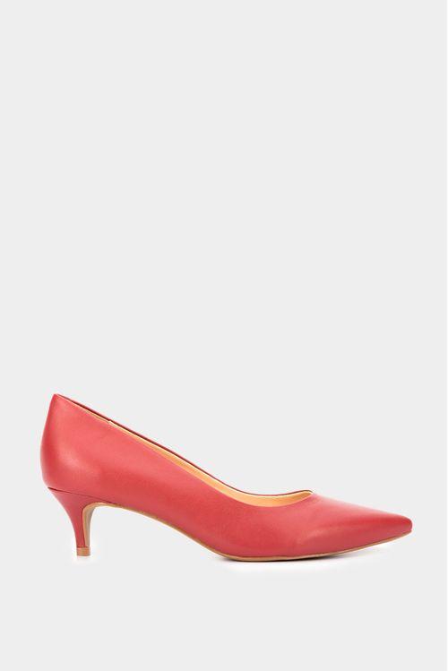 Zapato tipo tacon en cuero para mujer