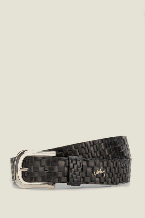 Cinturón unifaz Alfa de cuero para mujer