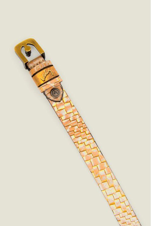 Cinturón unifax Marea Mineralia de cuero para mujer