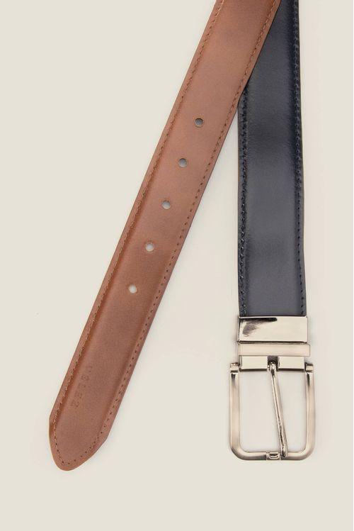 Cinturón Sabio doble faz de cuero