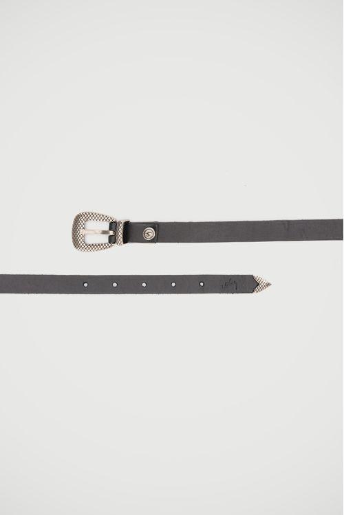 Cinturón unifaz Caoba de cuero para mujer