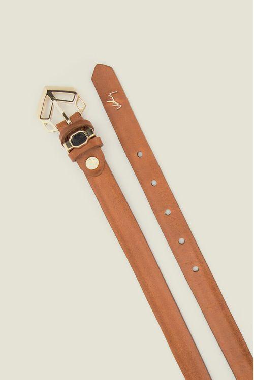 Cinturón unifaz Visdi de cuero para mujer