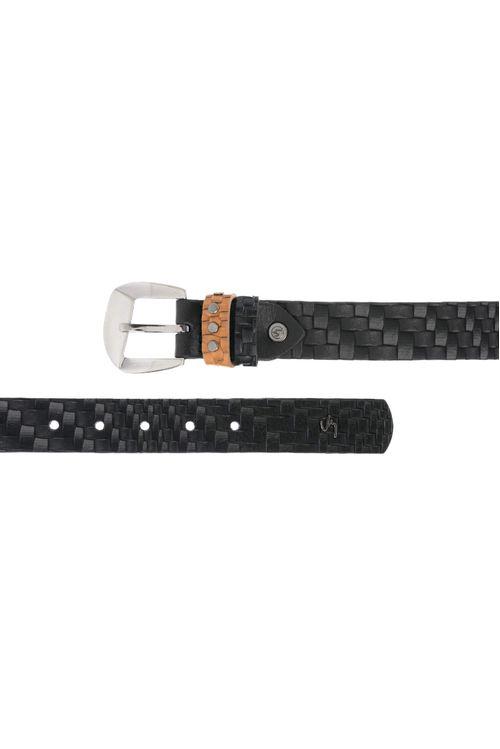Cinturón unifaz de cuero para mujer
