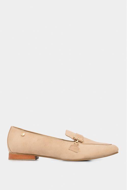 Zapatos tipo mocasin para mujer en cuero clasicos