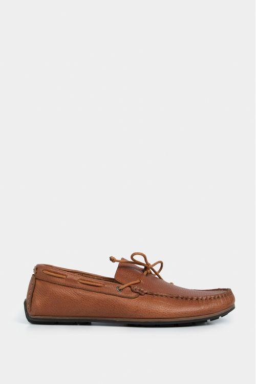Zapatos tipo mocasin deportivo para hombre en cuero