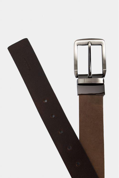Cinturón doble faz de cuero tradicional