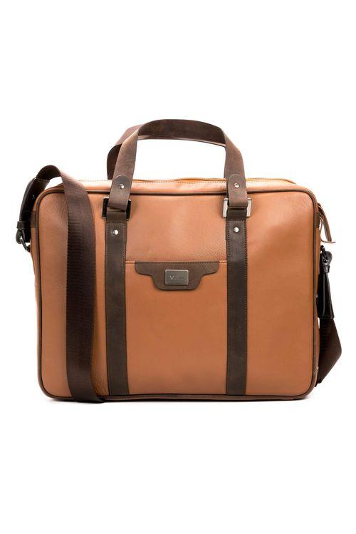 Bolso maletín portátil de cuero para hombre