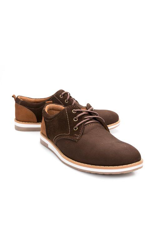 Zapatos De Cuero Con Cordón