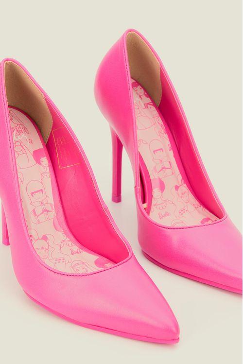 Tacones Pink Barbie de cuero para mujer