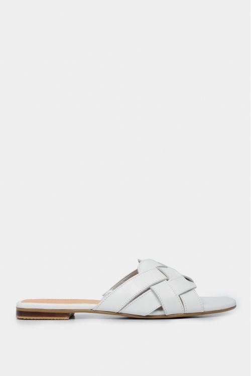 Zapatos para mujer tipo sandalia plana en cuero trenzada