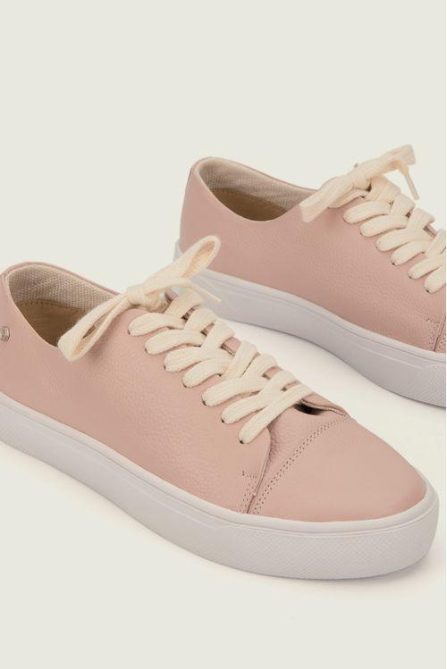 Zapatos con córdon para mujer de cuero anis