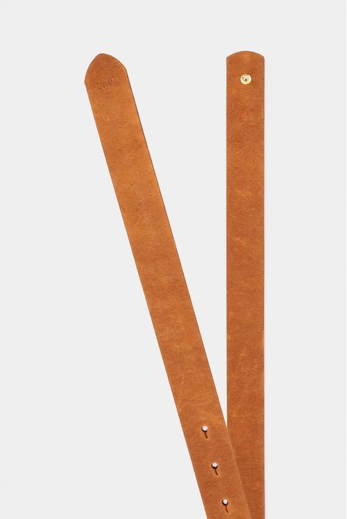 Cinturón unifaz de cuero para mujer para anudar