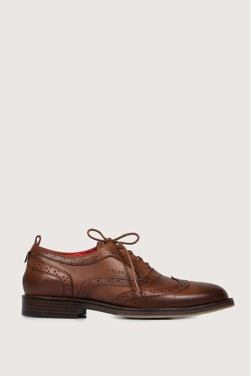 Zapatos cordón oxford de cuero