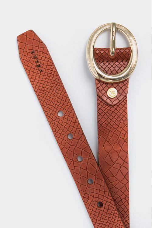Cinturón unifaz formal de cuero liso