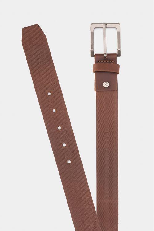 Cinturón unifaz de cuero para hombre tamponado