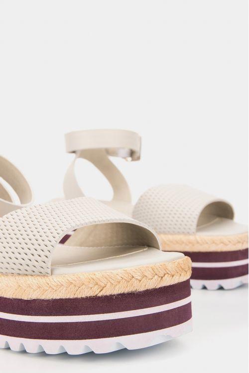 Sandalia plataforma ascani de cuero