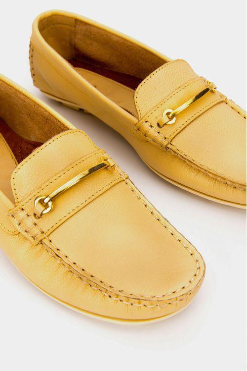 Zapatos tipo mocasin para mujer en cuero chili
