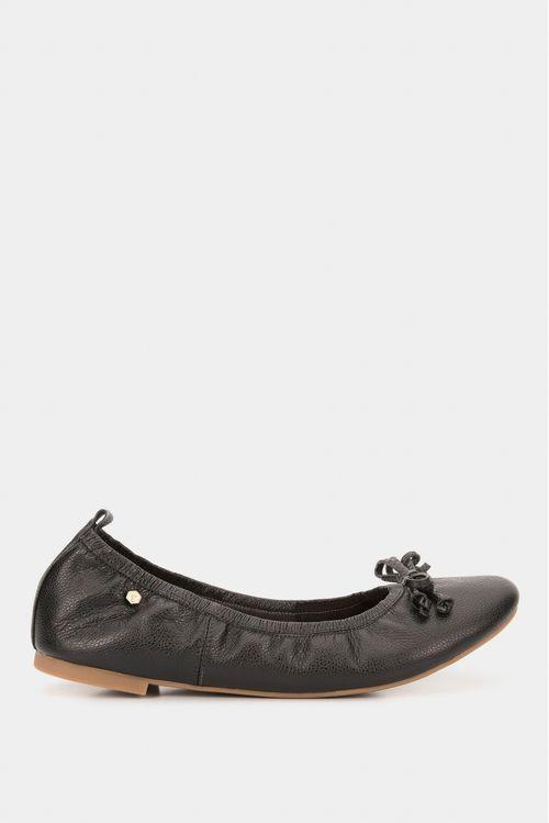 Zapatos para mujer tipo baleta en cuero moño antifaz