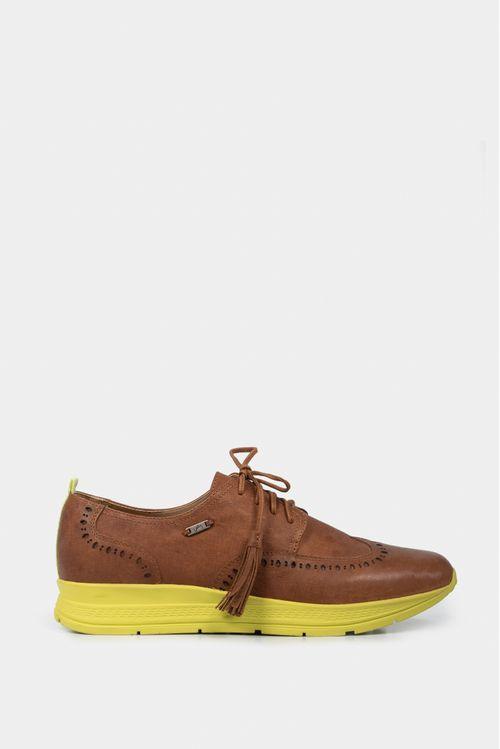 Zapatos cordón de cuero contrastes