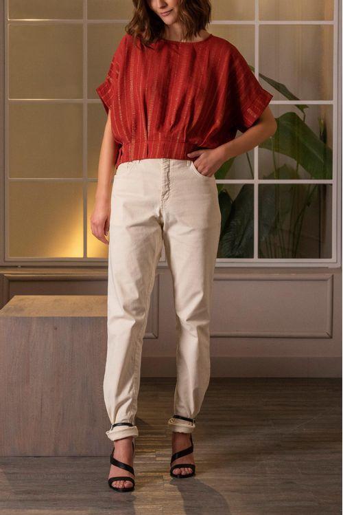 Camisa manga corta lurex