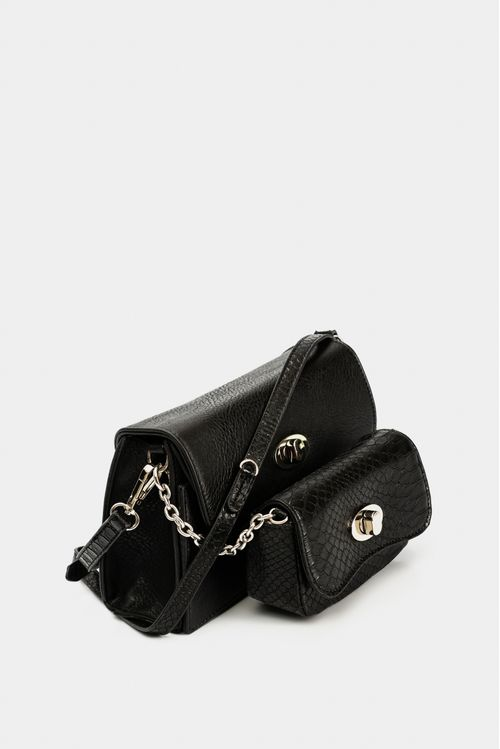 Bolso de moda tipo manos libres para mujer, esta referencia cuenta con doble bolso